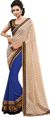Aparnaa Self Design Embroidered Embellished Georgette Sari - Buy Blue, White Aparnaa Self Design Embroidered Embellished Georgette Sari Online at Best Prices in India | Flipkart.com  MRP: Rs. 12,643 Rs. 8,218 34% OFF Selling Price EMI starts from Rs. 735  (Free delivery)