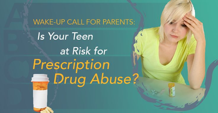 Wake-Up Call for Parents: Is Your Teen at Risk for Prescription Drug Abuse?  Teenagers who are prescribed medications for anxiety or sleep disorders are at high risk of abusing those drugs.