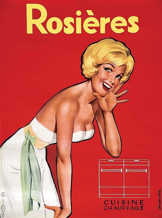 Rosières - Cuisine,  chauffage - 1950's - (E. Gaillard) -