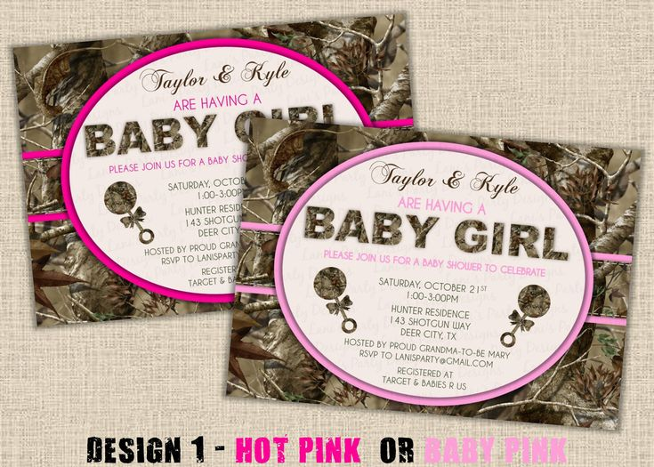 best  pink camo baby ideas only on   baby girl camo, Baby shower