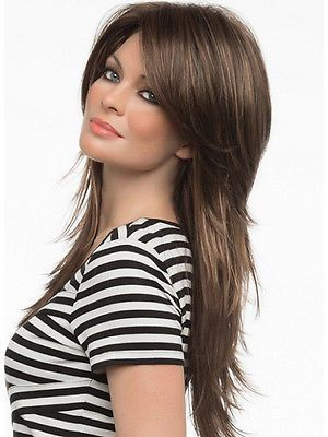 P & P >> >> > en venta largo pelo lanudo capas estilo flequillo Monofi señora pelucas(China (Mainland))