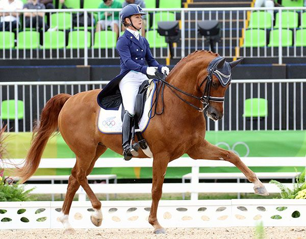 Julie Brougham riding Vom Feinsten at the Olympic Games in Rio de Janeiro. © 2016 Ken Braddick/dressage-news.com