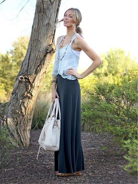 Shirt, Purse: c/o Windsor Store; Maxi Skirt: Rebecca Beeson; Shoes: BCBG; Necklace: Juicy Couture c/o UrbanMinx