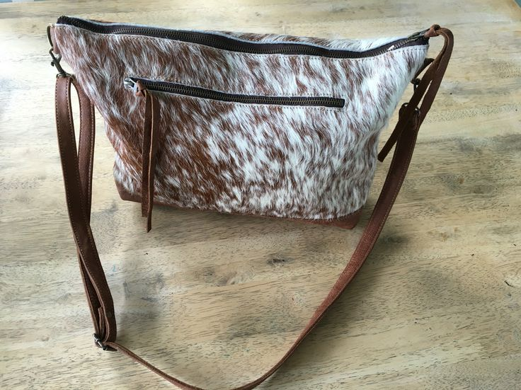 Genuine Nguni Leather Messenger Bag