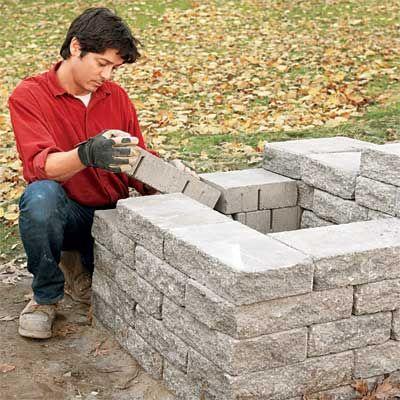 build a stone planter