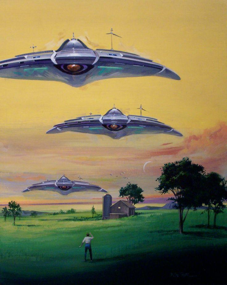 Vincent Di Fate - Field Full of Saucers