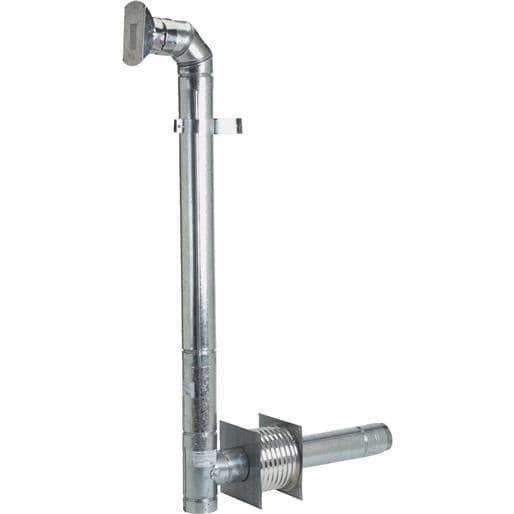 Selkirk Kit 4 Pellet Stove Vent 284875 Unit: Each, Silver stainless steel