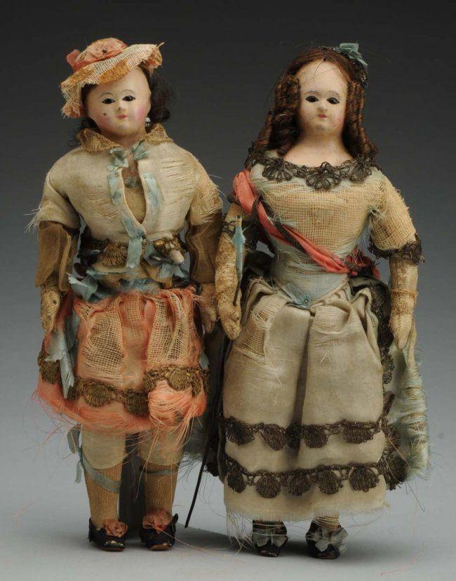 Lot of 2: Wax Dolls. : Lot 109