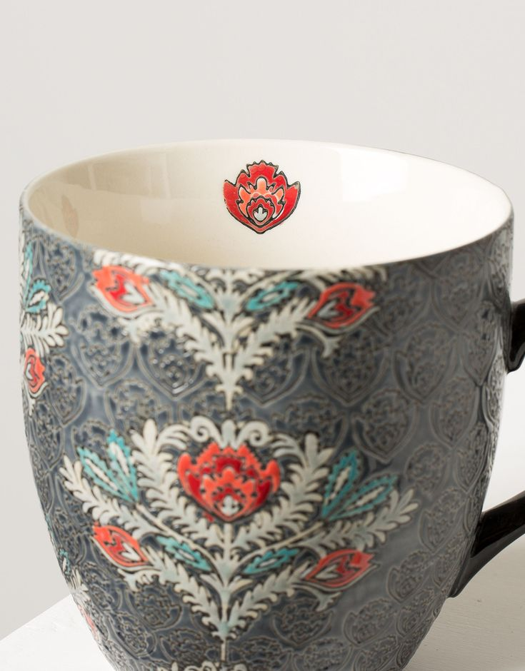 XL WINTER ROSE mug