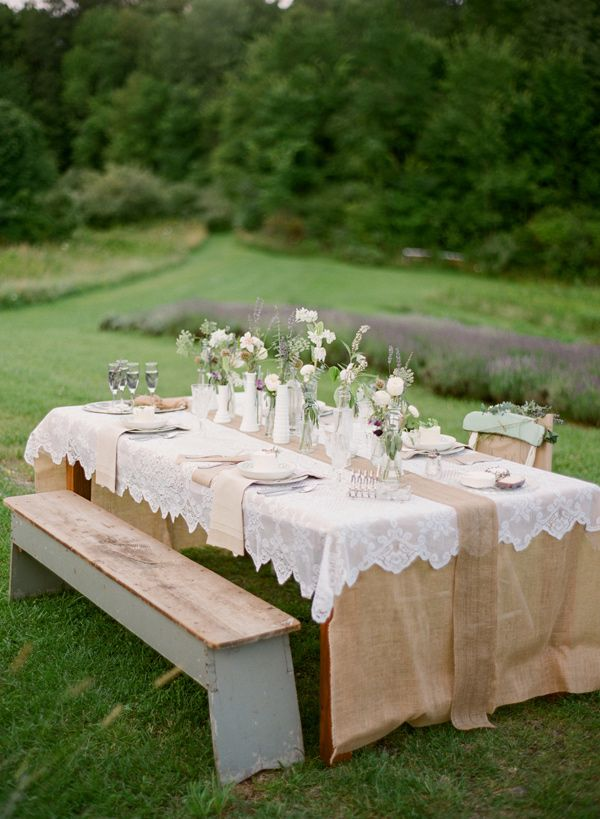 country style wedding shower ideas%0A burlap and lace  photo by Hunter Photographic u