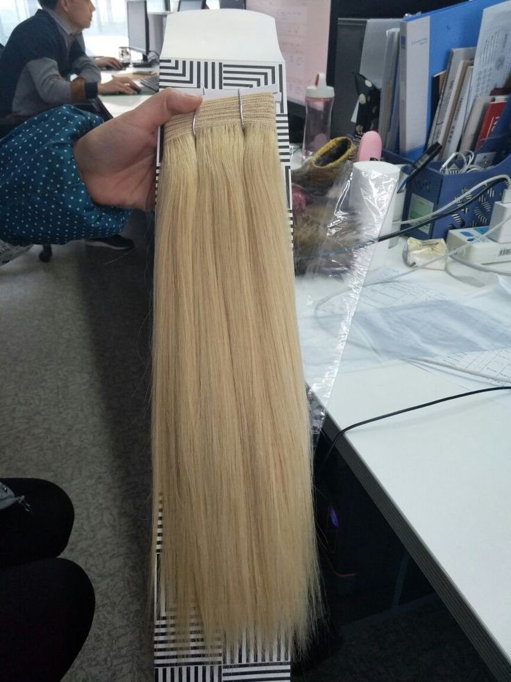 colored straight hair