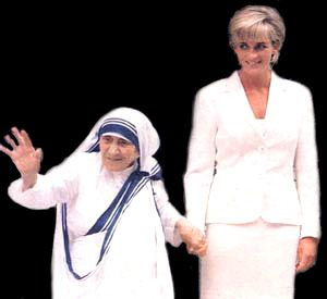 Two of my heroines together!: Princesses Diana, Blessed Mothers, Motherteresa, Mothers Theresa, Mother Teresa, Amazing Women, Princess Diana, Princesses Of Wales, Mothers Teresa