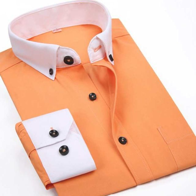 Good price Elegant Spring Autumn Men Business Dress Shirts White Collar Brand Fashion Long Sleeve Cotton Slim Fit Men Formal Shirts just only $12.59 with free shipping worldwide  #shirtsformen Plese click on picture to see our special price for you