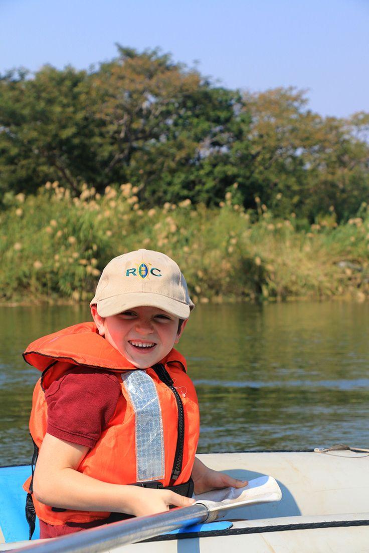 A boys only canoeing trip at Royal Chundu