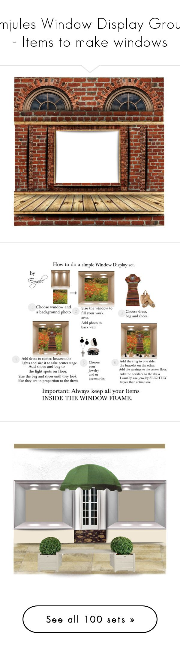 """""""Emjules Window Display Group - Items to make windows"""" by emjule ❤ liked on Polyvore featuring art, Tenki, Gap, Oasis, Alexander McQueen, So in Fashion, Emilio Pucci, Marni, home and home decor"""