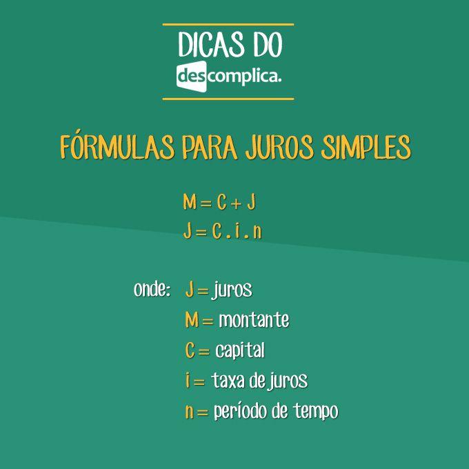 Anota aí: fórmulas para usar em problemas de Juros Simples. Clique na imagem para assistir à aula em vídeo sobre o assunto.
