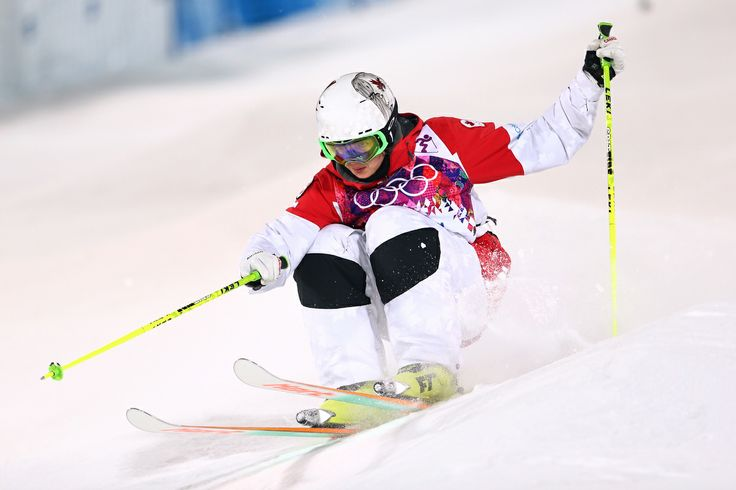 SOCHI, RUSSIA - FEBRUARY 08: Maxime Dufour-Lapointe of Canada competes in the Ladies' Moguls Final 2 on day 1 of the Sochi 2014 Winter Olympics at Rosa Khutor Extreme Park on February 8, 2014 in Sochi, Russia. (Photo by Cameron Spencer/Getty Images)