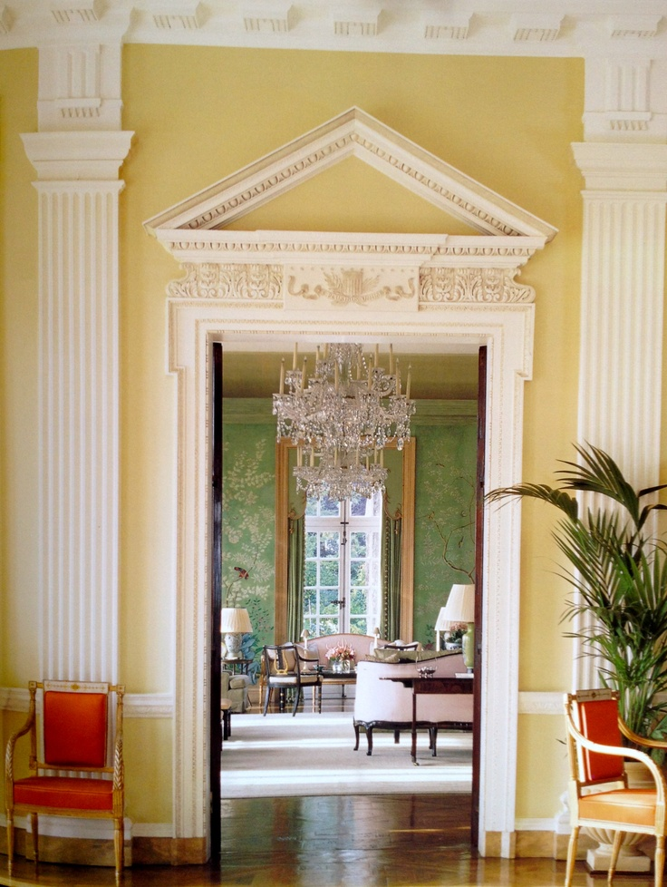 Winfield House: Yellow Room. | The Stately Home | Winfield ...