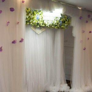 Design by SaoMys Flower: #weddingdecoration #flower #white #blue #green #Novotelhotel #HoChiMinhcity #VietNam