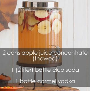 Perfect CARAMEL-APPLE punch for a Autumn Bachelorette Party!  #autumn #bachelorette #punch