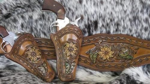 Mounted Shooting Gear - except holsters need to face the same way