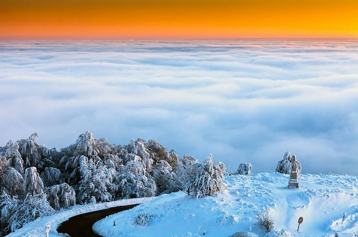 Above clouds in Bulgaria