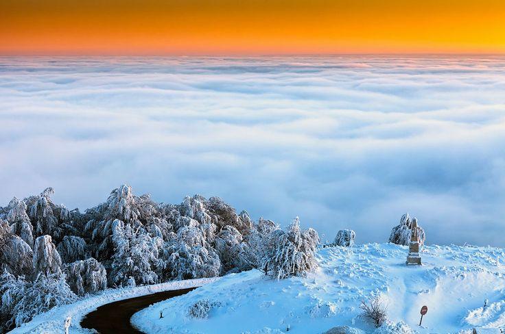 Above clouds in Bulgaria