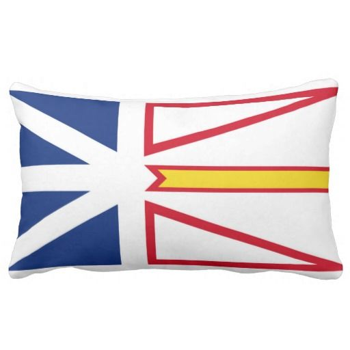 Provincial Flag Of #Newfoundland & #Labrador Throw Pillow