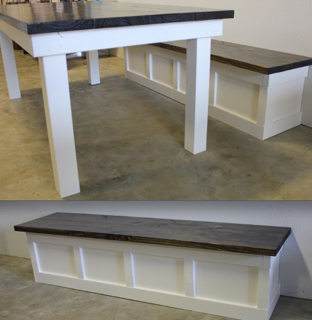 Custom Built In Wall Bench And Matching JamesJames Table
