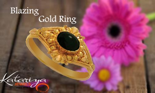 Shimmer Gold Ring in 22K  Buy Now :http://buff.ly/1YLnqtV COD Option Available With Free Shipping
