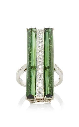 Valentina Green Tourmaline And Diamond Ring by PAOLO COSTAGLI for Preorder on Moda Operandi