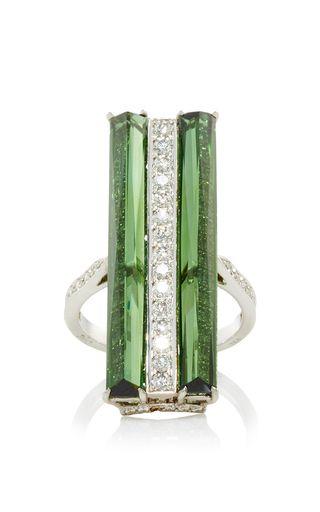 Valentina Green Tourmaline And Diamond Ring by PAOLO COSTAGLI for Preorder on Moda Operandi