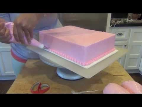 Watch me decorate the boring sheet cake to adorable perfection! Well looks like I spelled Cupcake wrong in the title... can't figure out how to fix that with...