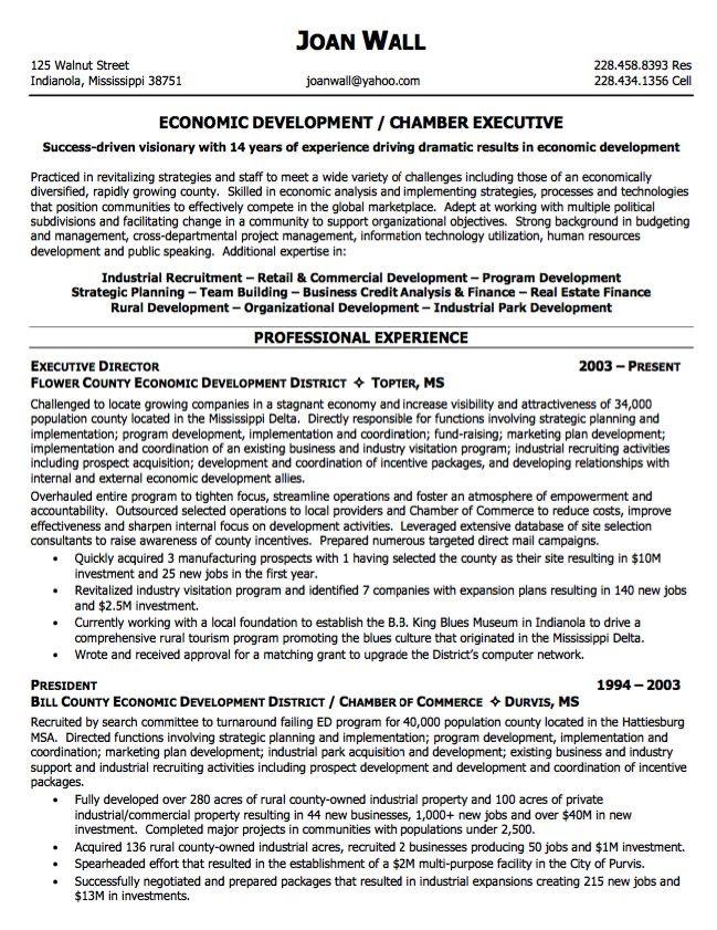Sample Resume Economic Development Http Resumesdesign Com Sample Resume Economic Development Executive Resume Executive Resume Template Resume Examples
