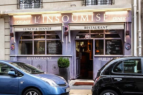 L'Insoumise is located on a side street near the Paris Expo Porte de Versailles.