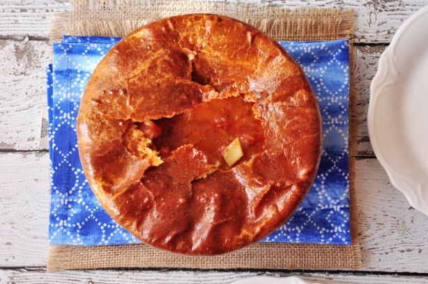 A traditional steak and Guinness pie done by my favorite British chef, Jamie Oliver. This is made particularly easy by using puff pastry for the top pie layer!  If you want to skip the puff pastry layer, you could serve this as a normal stew.