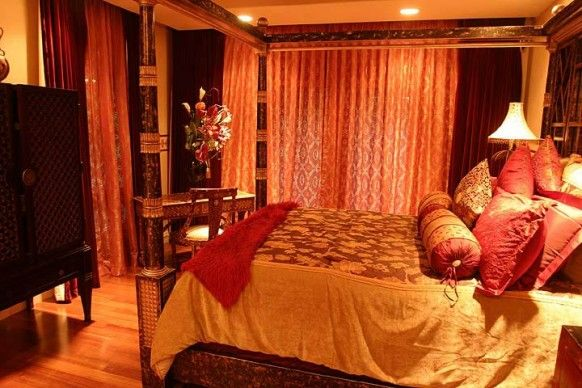 Red And Gold Bedroom Home Sweet Home Pinterest