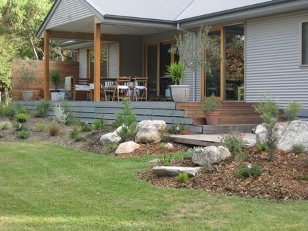 Image result for feature rocks and  nz native garden