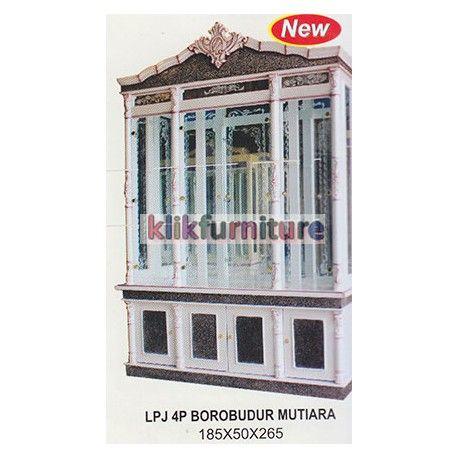 Harga Pajangan 4 Pintu Borobudur Mutiara Cms Condition:  New product  Ukuran Panjang : 185cm, Lebar : 50 cm, Tinggi : 265 cm Finishing Mutiara