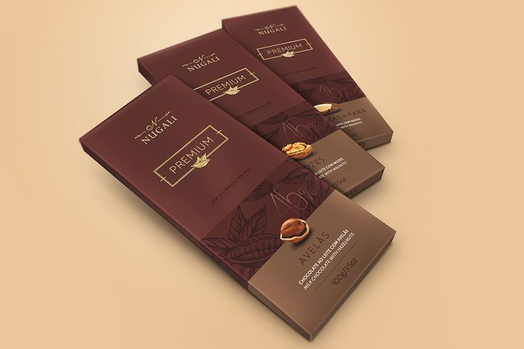 Premium Chocolate Bars NUGALI (by FAZdesign) on Behance