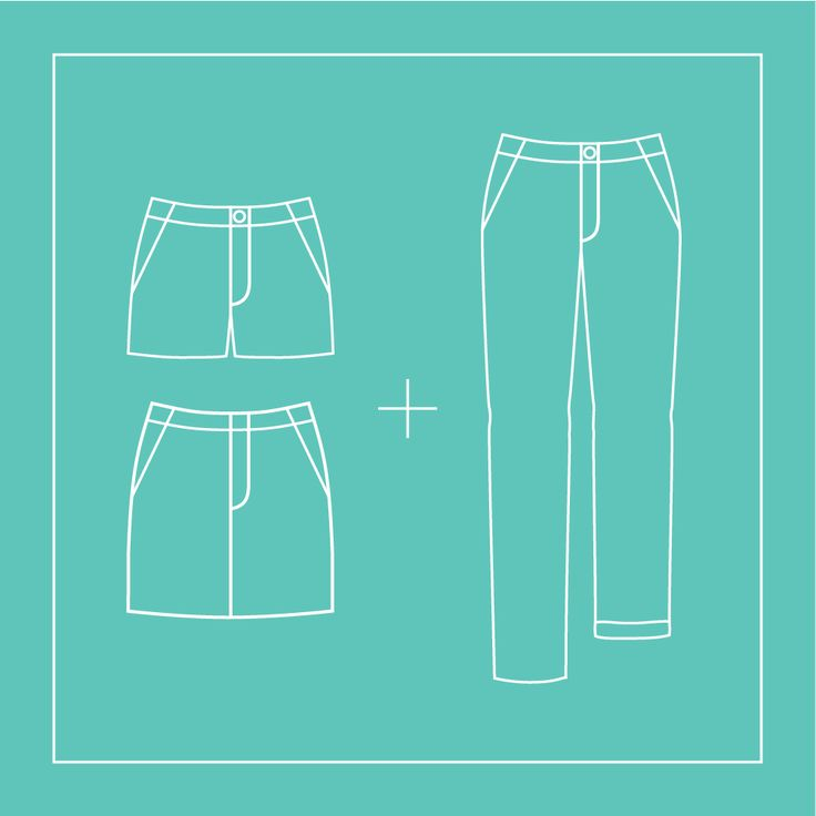 Want to purchase the original Chi-Town Chinos pattern as well as Expansion Pack No. 2? Buy them as a bundle for 10% off.  The Chi-Town Chinos pattern features a relaxed-fit, straight-leg shorts p…