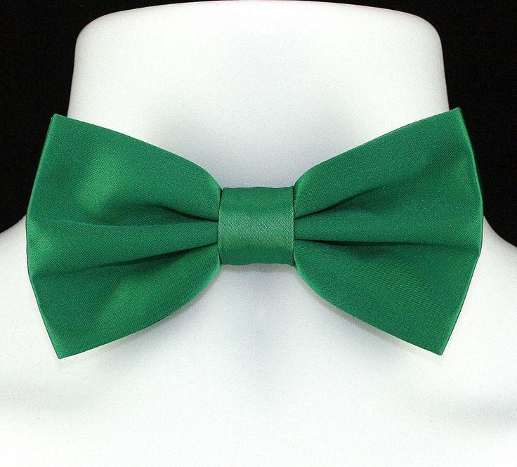 New Xmas Green Microfiber Mens Bow Tie Adjustable Tuxedo Wedding Fashion Bowtie #TiesJustForYou #BowTie