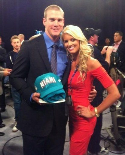 Ryan Tannehill's wife becomes a trending topic on #twitter after the first round