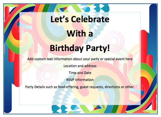 56 best Free Flyer Designs images on Pinterest Free flyer design - birthday invitation templates free word