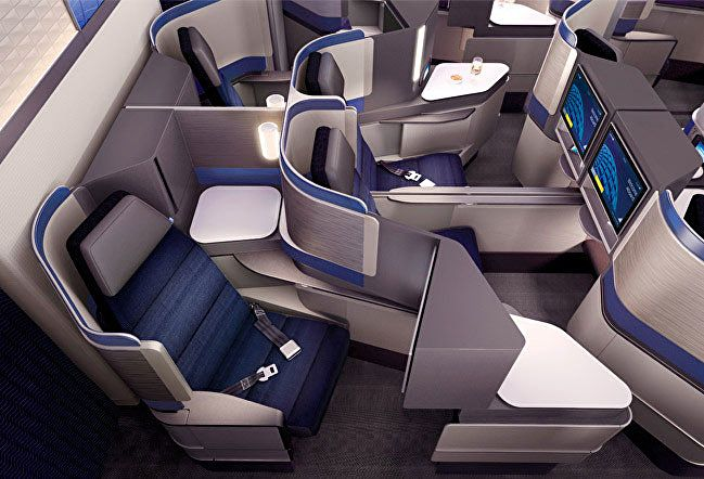 United Airlines launches new Polaris business class seats lounges - Australian Business Traveller