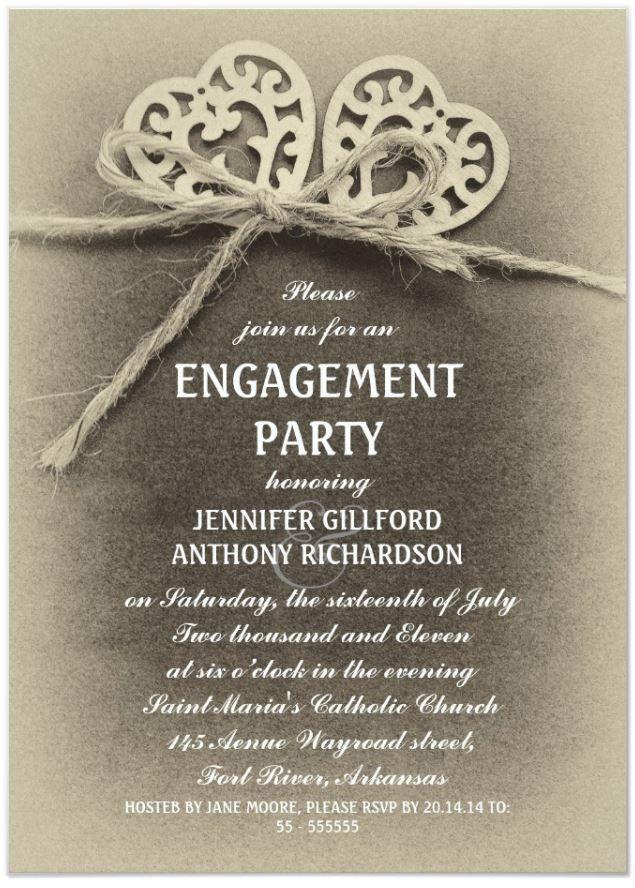 Rustic Vintage Engagement Party Invitation Zazzle Com In 2021 Free Engagement Party Invitations Templates Engagement Invitation Template Engagement Invitations