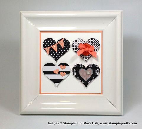 Stampin up stampin' up! stamping stampinup pretty mary fish heart frame