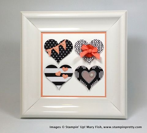 25 best ideas about heart frame on pinterest diy framed for Mary fish stampin up