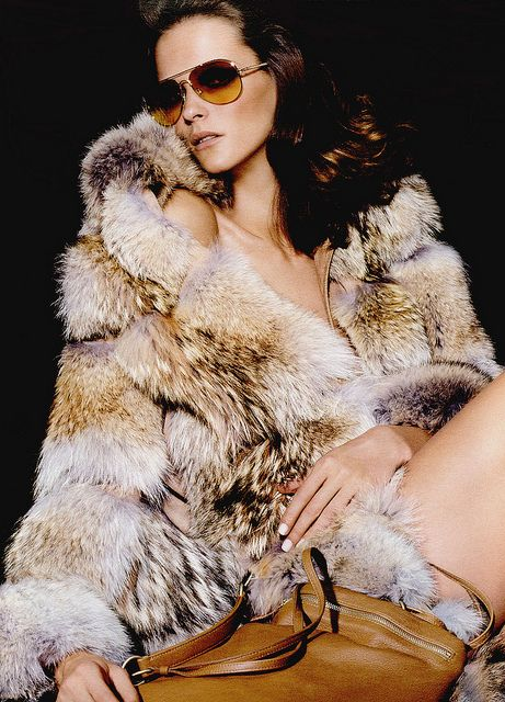 Somebody has their rock star look going on in this fabulous #fox #fur coat. http://www.furcentre.com/