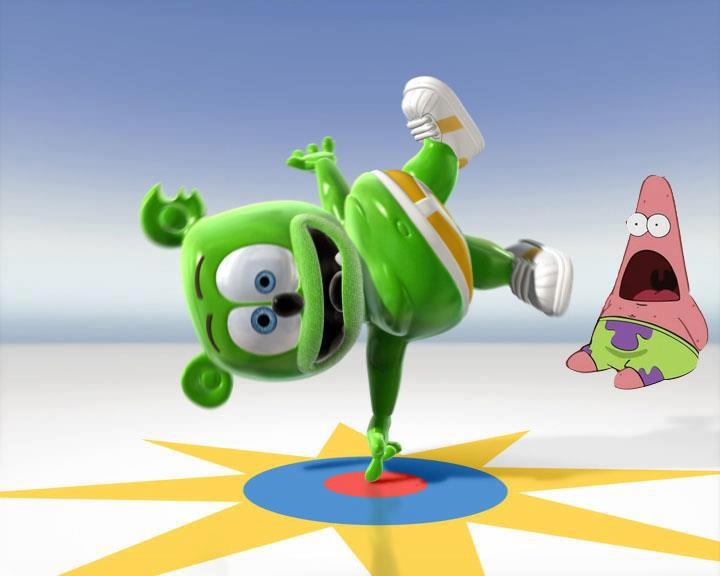 Impressing Patrick from Spongebob with my dance moves!